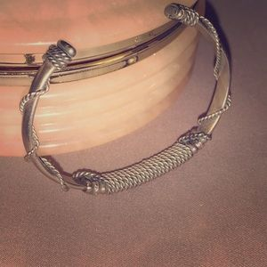 Twisted wire wrapped cuff